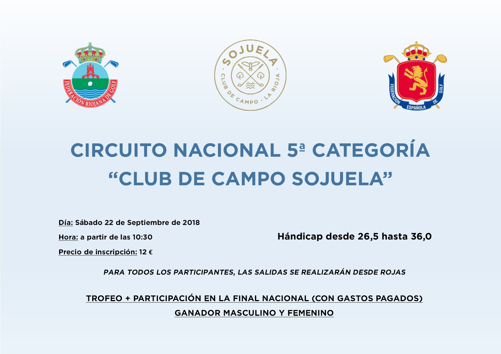 """Circuito Nacional 5ª Categoria """"Club de Campo Sojuela"""""""