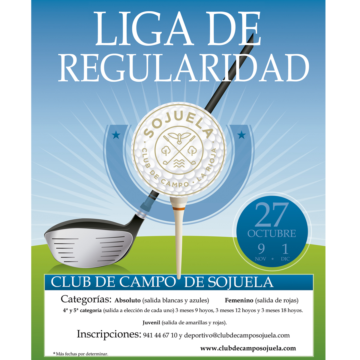 Liga de Regularidad 2019/2020 – Club de Golf Sojuela